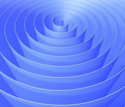 Fotomural Espiral 3D, padrão de fundo abstrato digital