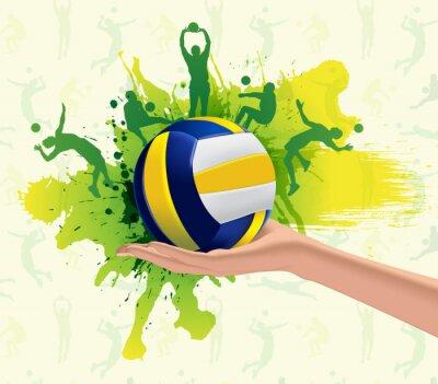 Fotomural Esporte Voleibol projeto do fundo