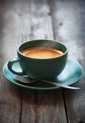 Fotomural Espresso, café, verde, copo, seletivo, foco