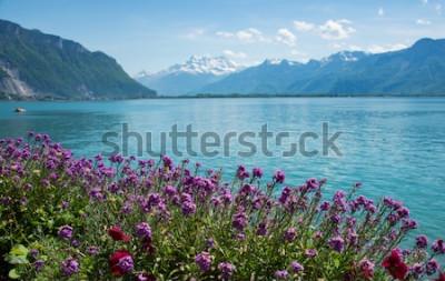 Fotomural esta é uma foto da montanha da paisagem, Suíça