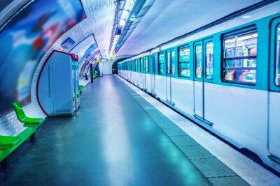 Fotomural Estação de metrô em Paris
