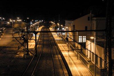 Fotomural Estação durante a noite