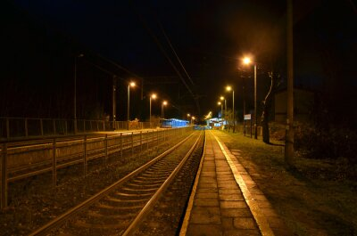 Fotomural Estação noturna