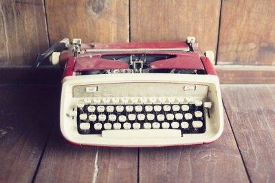 Fotomural Estilo, estilo, máquina de escrever, madeira, chão