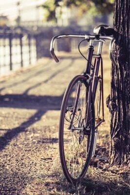 Fotomural Estrada da bicicleta fixa bicicleta engrenagem