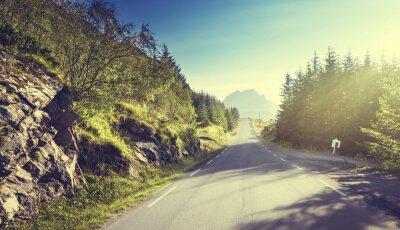 Fotomural Estrada, montanha, Lofoten, ilhas, noruega