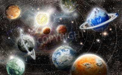 Fotomural Estrangeiro, planeta, estrela, sistema, espaço