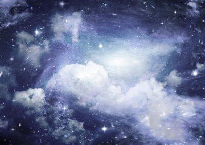 Fotomural Estrela, campo, espaço, nebulosa