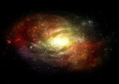 Fotomural Estrelas, nebulosa de poeira e gás em uma galáxia distante
