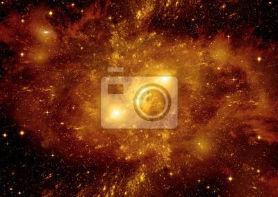 Fotomural Estrelas, poeira e nebulosa de gás em uma galáxia distante
