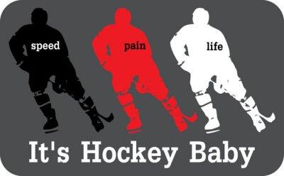Fotomural Etiqueta Hockey