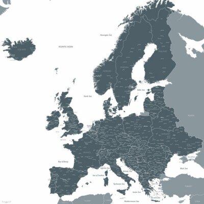 Fotomural Europa, mapa, vetorial