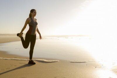 Fotomural Exercício na praia