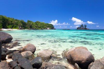 Fotomural Exotischer Strand auf den Seychellen
