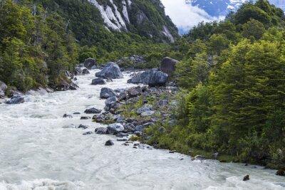 Fotomural Exploradores rio, Chile