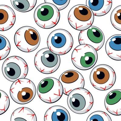 Fotomural Eyeballs seamless background