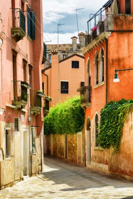 Fotomural Fachadas de casas antigas na Calle Gradisca Cannaregio em Veneza