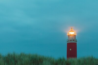 Fotomural Farol na ilha holandesa de Texel