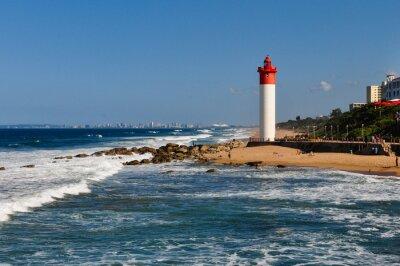 Fotomural Farol Umhlanga com Durban como pano de fundo; África do Sul