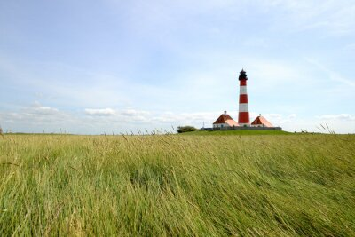Fotomural Farol Westerhever - Mar do Norte