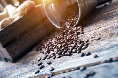 Fotomural Feijões de café em Balde