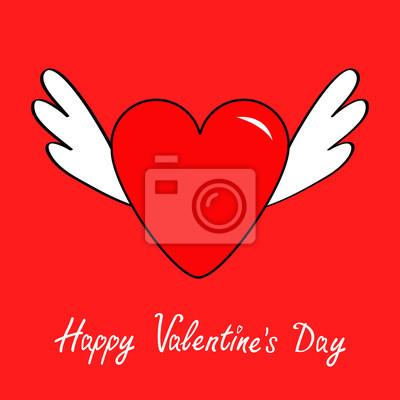 Feliz Dia Dos Namorados Simbolo Bonito Do Sinal Do Contorno