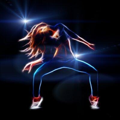 Fotomural Feminino dançarina de hip hop