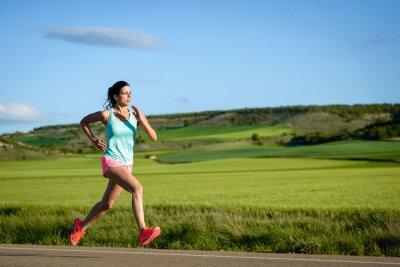 Fotomural Feminino Treinamento ao ar livre atleta.