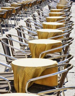 Fotomural fileiras de cadeiras