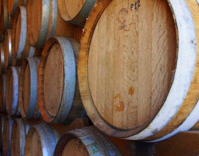 Fotomural Fileiras, vinho, barris