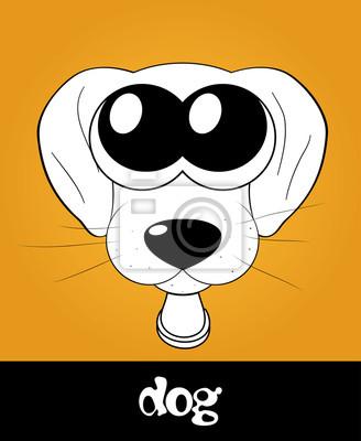 Filhote De Cachorro Bonito Dos Desenhos Animados Cao Com Os