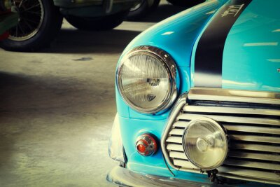 Fotomural Fim, cima, frente, macio, verde, vindima, car