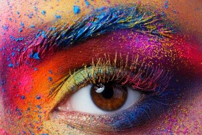 Fotomural Fim, cima, vista, femininas, olho, luminoso, colorido ...