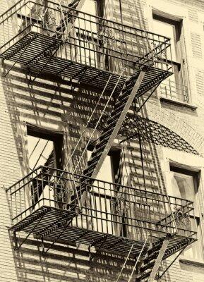 Fotomural Fire escape