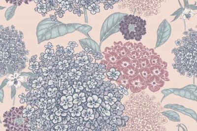 Fotomural Floral pastel color background. Vintage seamless pattern. Vintage. Vector.