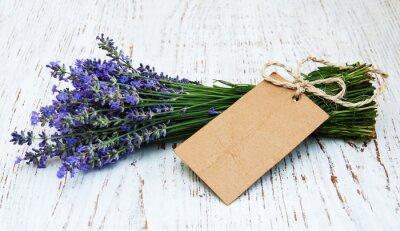 Fotomural Flores da alfazema com etiqueta