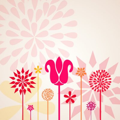 Fotomural Flores decorativas