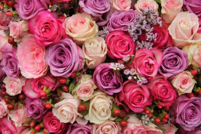 Fotomural Flores do casamento Pastel