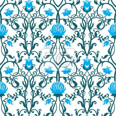 Fotomural flores do vintage vetor padrão