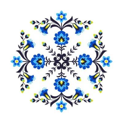 Fotomural Flores folclóricas polacas
