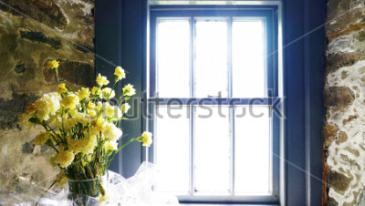 Fotomural Flores perto da janela