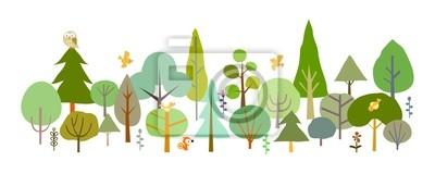 Fotomural floresta-A