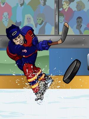 Fotomural Florida jogador de hóquei no gelo.