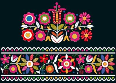 Fotomural Folk eslovaco ornamentos