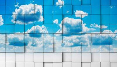 Fotomural fondo 3d con cielo.