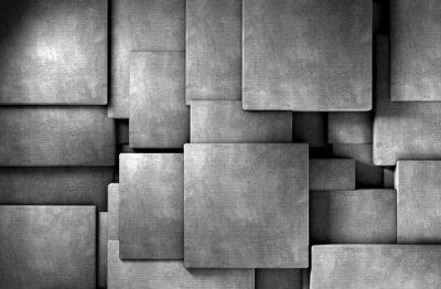 Fotomural fondo abstracto 3d, bloques de cemento