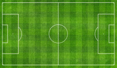 Fotomural football  field top view