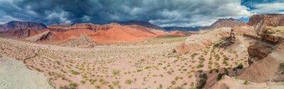 Fotomural Formações rochosas coloridas em Quebrada de Cafayate, Argentina