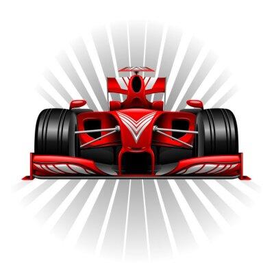 Fotomural Fórmula 1 Red Racing Car