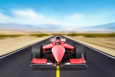 Fotomural Formula corrida carro vermelho